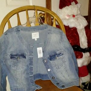Women's Plus size 3 Torrid denim jacket NWT